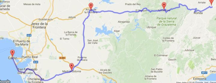 14 juni Ronda - Cadiz