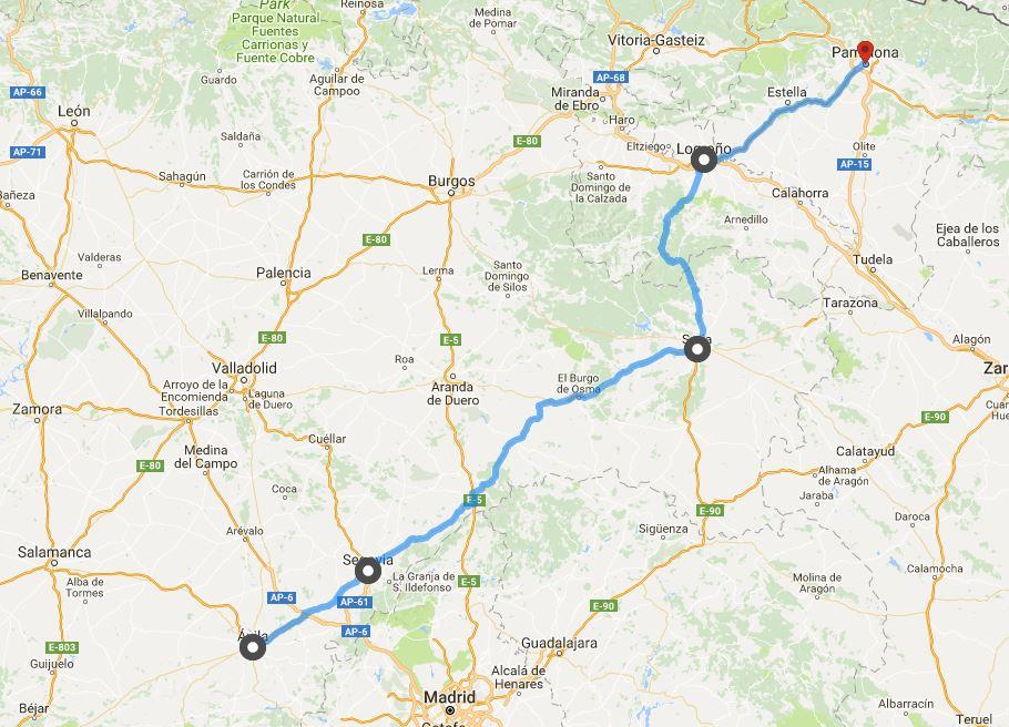 20 juni Avila - Pamplona